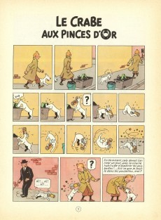 Extrait de Tintin (Historique) -9B39- Le crabe aux pinces d'or