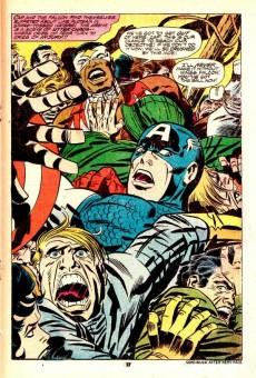 Extrait de Captain America (Marvel comics - 1968) -197'- The rocks are burning!