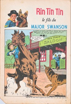 Extrait de Rin Tin Tin & Rusty (2e série) -55- Le fils du major Swanson