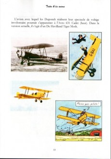 Extrait de Tintin - Divers - Tintin & les avions