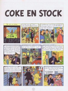 Extrait de Tintin (Historique) -19C1- Coke en stock