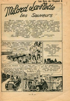 Extrait de Les rois de l'exploit -9- Milord Lariflette - Les sauveurs