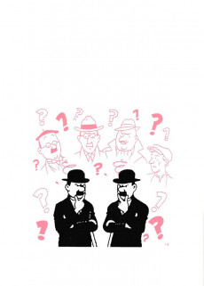 Extrait de Tintin - Pastiches, parodies & pirates -'- Dupont et Dupond détectives