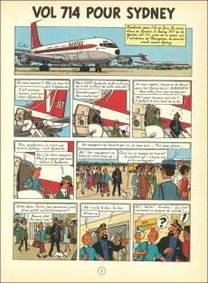 Extrait de Tintin (Historique) -22B37TT- Vol 714 pour Sydney