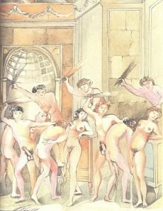 Extrait de Le marquis de Sade illustré - Justine et Juliette toutes les estampes