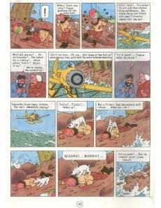 Extrait de Tintin (The Adventures of) -10- The Shooting Star
