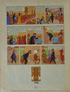 Extrait de Tintin (Historique) -14B31- Le temple du soleil