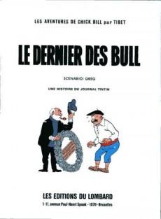 Extrait de Chick Bill -713b83- Le dernier des Bull