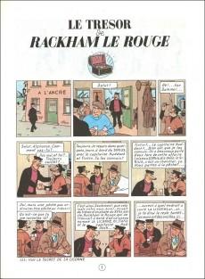 Extrait de Tintin (Historique) -12B38bis- Le trésor de Rackham Le Rouge