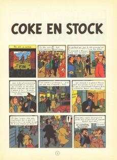 Extrait de Tintin (Historique) -19B38bis- Coke en stock