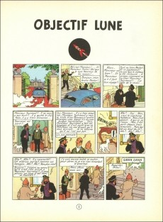 Extrait de Tintin (Historique) -16B23ter- Objectif lune