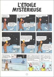Extrait de Tintin (Historique) -10B21- L'étoile mystérieuse
