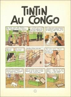 Extrait de Tintin (Historique) -2B21- Tintin au congo