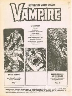 Extrait de Vampire (histoires de morts-vivants) -3- Berceuse pour un clochard