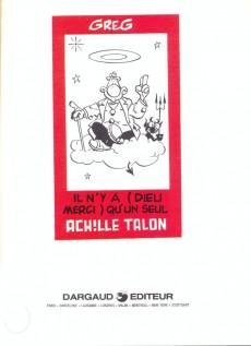 Extrait de Achille Talon -31a86- Il n'y a (Dieu merci) qu'un seul Achille Talon