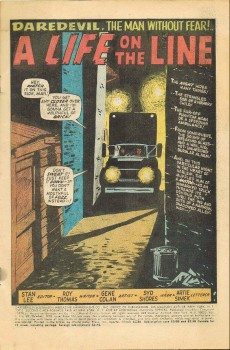 Extrait de Daredevil Vol. 1 (Marvel - 1964) -69- A Life on the Line!