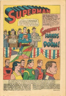 Extrait de Action Comics (1938) -328- Superman's Hands of Doom