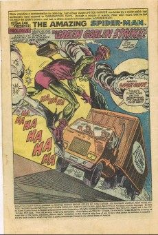 Extrait de Amazing Spider-Man (The) (1963) -137- The green goblin strikes