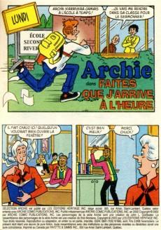 Extrait de Archie Sélection -685- Faites que j'arrive à l'heure