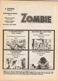 Extrait de Zombie (France Sud Publications / Bois de Boulogne) -3- La malédiction de Malaka