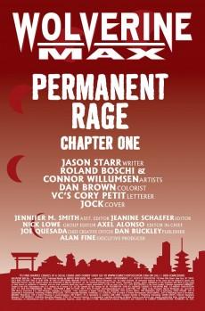 Extrait de Wolverine Max (2012) -1- Permanent Rage