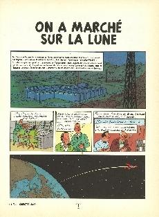 Extrait de Tintin (Historique) -17B35- On a marché sur la lune