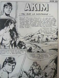 Extrait de Akim (1re série) -536- Feu sur la montagne