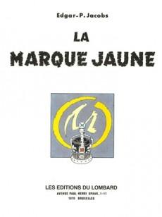 Extrait de Blake et Mortimer (Historique) -5d74- La Marque Jaune