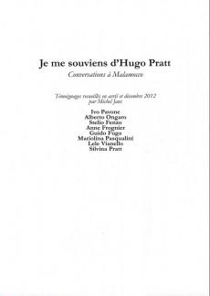 Extrait de (AUT) Pratt, Hugo - Je me souviens de Pratt, conversations à Malamocco