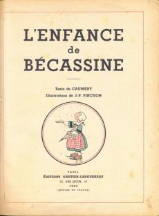 Extrait de Bécassine -1b53- L'enfance de Bécassine