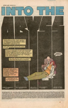 Extrait de New Mutants (The) (1983) -27- Into the Abyss