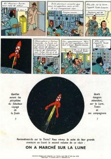 Extrait de Tintin (Historique) -16C6- Objectif lune
