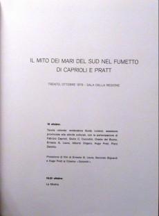 Extrait de (AUT) Pratt, Hugo (en italien) -Cat- Il mito dei mari del sud - Nel fumetto di Caprioli e Pratt