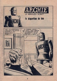 Extrait de Archie (Jeunesse et Vacances) -35- La Disparition de Ken