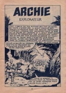 Extrait de Archie (Jeunesse et Vacances) -43- Archie Explorateur