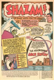 Extrait de Shazam (DC comics - 1973) -2- The Astonishing Arch Enemy & other stories