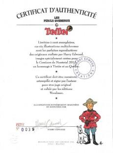 Extrait de Tintin - Pastiches, parodies & pirates - Les périls québecois de Tintin