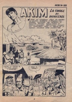 Extrait de Akim (1re série) -655- La charge des rhinocéros