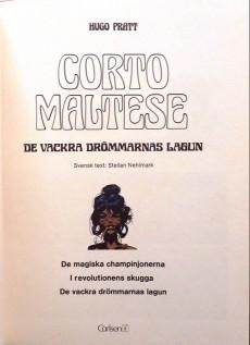 Extrait de Corto Maltese (en langues étrangères) -3Suédois- De vackra drömmarnas lagun