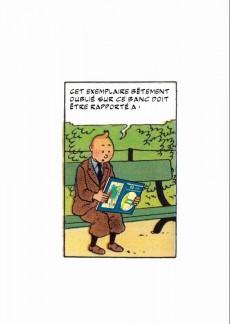 Extrait de Tintin - Pastiches, parodies & pirates - Les Aventures du forum en Oubapie - 99 exercices de style et même un peu plus