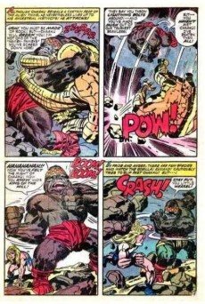 Extrait de Kamandi, The Last Boy On Earth (1972) -3- The thing that grew on the moon!