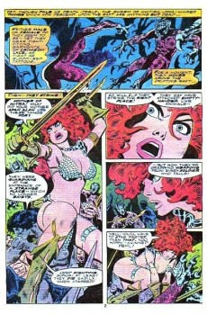 Extrait de Red Sonja Vol.1 (Marvel comics - 1977) -10- Red lace part 1: angels from hell