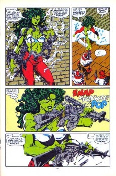 Extrait de Sensational She-Hulk (The) (1989) -2- Attack of the terrible toad men (or froggy came cavortin')