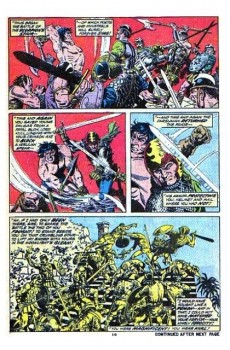 Extrait de Kull the Conqueror (1971) -9- The scorpion god!