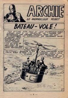 Extrait de Archie (Jeunesse et Vacances) -30- Bateau-vole !