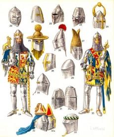 Extrait de (AUT) Funcken -U2 1- Le costume, l'armure et les armes au temps de la chevalerie - du huitième au quinzième siècle