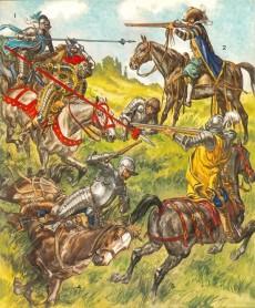 Extrait de (AUT) Funcken -U2 2- Le costume, l'armure et les armes au temps de la chevalerie - le siècle de la renaissance