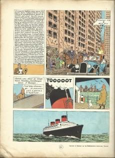 Extrait de Tintin (Historique) -3B21bis- Tintin en Amérique