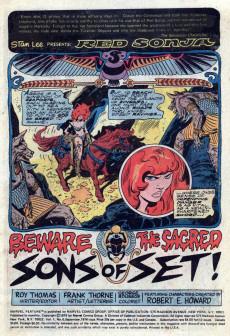 Extrait de Marvel Feature (1975) -6- Beware the sacred sons of set!