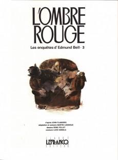 Extrait de Edmund Bell (Les enquêtes d') -3- L'ombre rouge